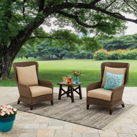 Better Homes & Gardens Camrose Farmhouse 3 Piece Outdoor Chat Set