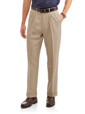 George Men's Microfiber Performance Pleated Dress Pant