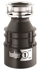 Insinkerator Badger 1 Garbage Disposal With Power Cord, 1/3 Hp
