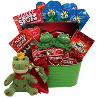 I'm Toad-ally Yours! Prince Charming Frog Valentines Day Chocolate and Candy Gift Basket
