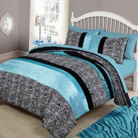 Your Zone Zebra Bedding Comforter Set, 1 Each