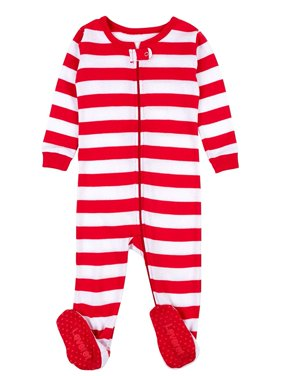 Product Image Leveret Red   White Footed Pajama Sleeper 100% Cotton 18-24  Months 806195c54