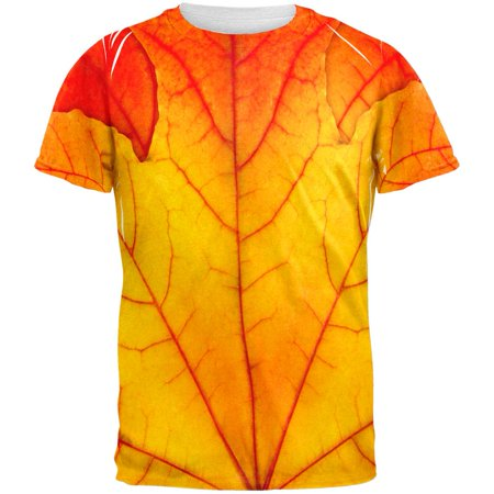 Halloween Autumn Fall Leaf Costume All Over Adult T-Shirt - Bridgewater Falls Halloween
