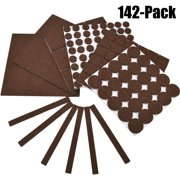142Pcs Furniture Pads, Outgeek Felt Floor Protectors Assorted Size Furniture Pads for Table Desk Chair