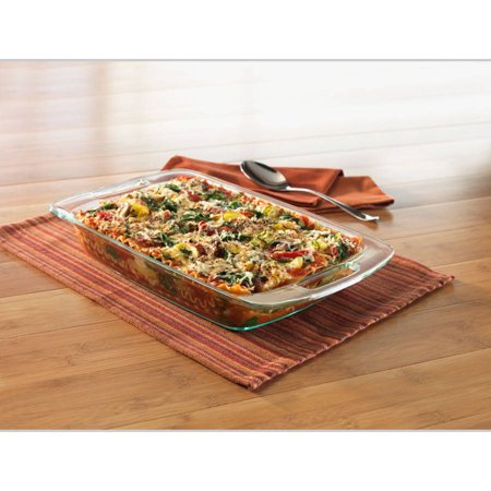 Pyrex 3 Quart Grip-Rite Oblong Baking Dish (Large Oval Bake Dish)