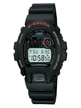 Men's G-Shock Stainless Steel Digital Watch, Black Resin Strap