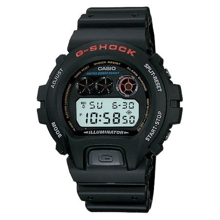 Men's G-Shock Stainless Steel Digital Watch, Black Resin