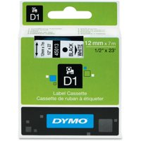 """DYMO 45013 1/2"""" High-Performance Permanent Self-Adhesive Polyester Label Tape, White"""