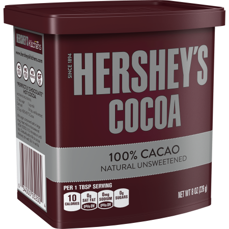 (2 Pack) Hershey's, Natural Unsweetened Cocoa, 8 oz (French Cocoa Powder)