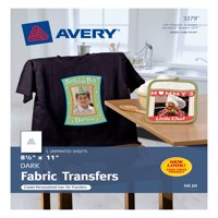 "Avery Dark T-Shirt Transfers, Matte, 8-1/2"" x 11"", 5 Labels (3279)"