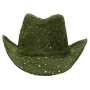 Glitter Sequin Trim Cowboy Hat a551bc3fb0e9