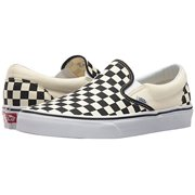 4a93b333668c vans classic slip on black off white checkerboard vn-0eyebww mens us 9.5