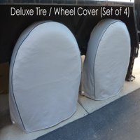 """Formosa Covers Deluxe tire/wheel covers fits tire 27.5""""- 30.5"""" dia. for RV's, Travel Trailers, Toy Haulers, 5th wheel trailers, Truck, Van, SUV (Set of 4)"""