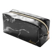b0f69be1f2d3 Travel Small Makeup Bag Cosmetic Bag Marble Pattern Portable Zipper Pouch  Makeup Brush Pencil Toiletry Organizer