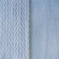 RTC Fabric Cloud 100% Polyester Squiggly Minky Fleece, Blanket Fabric, Apparel Fabric, Nurcery Fabric, 60'', 245Gsm