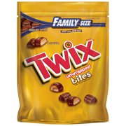 Twix Bites Size Caramel Chocolate Cookie Bar Candy Family Size, 14.8 Oz.
