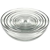 Anchor Hocking Tempered Glass Assorted Dishwasher Safe Mixing Bowl, 10 Piece
