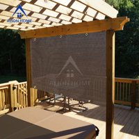Alion Home Mocha Brown Sun Shade Privacy Panel with Grommets on 4 Sides for Patio, Awning, Window, Pergola or Gazebo  8' x  5'