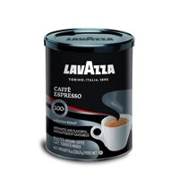 Lavazza Caffe Espresso Ground Coffee Blend, Medium Roast, 8-Ounce Can