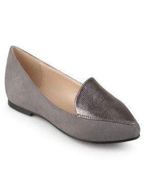 Women's Pointed Toe Faux Suede Loafer Flats