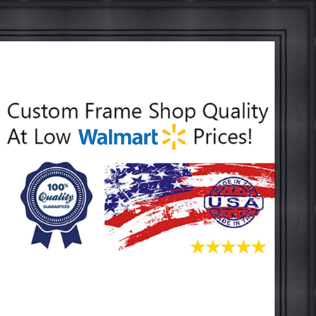 14x17 14 X 17 Contemporary Black Solid Wood Frame With Uv Framers