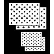 d35b8d288c18 4 PACK Spray Airbrush Painting Stencils American Flag 50 US Stars Small    Large