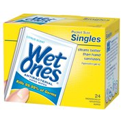 Wet Ones Antibacterial Hand Wipes Citrus Scent Individually Wrapped Single - 24 Count