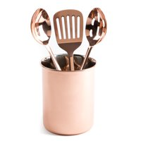Thyme and Table 4-Piece Copper Kitchen Utensil and Holder Set