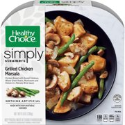 Healthy Choice Simply Steamers Frozen Dinner, Grilled Chicken Marsala, 9.9 Ounce