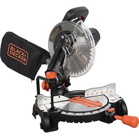 BLACK+DECKER 15 Amp 10-Inch Compound Miter Saw, (Best Miter Saw Laser Guide)