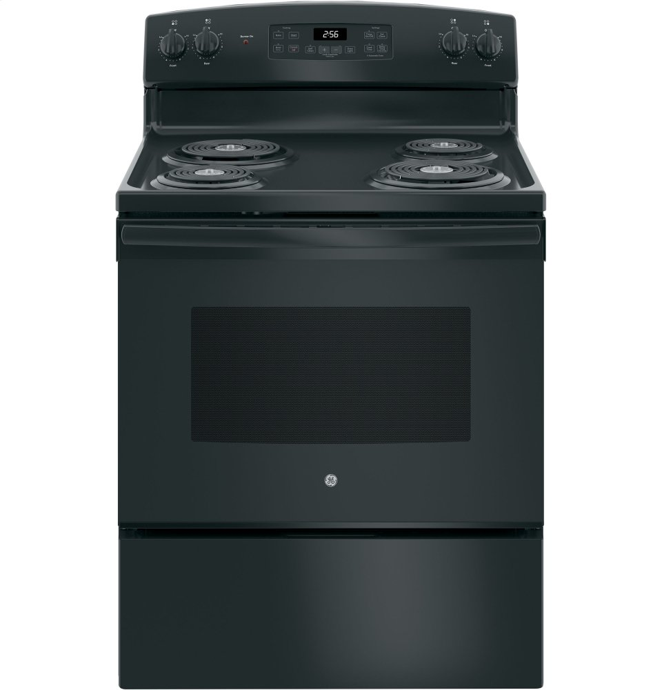 GE Appliances JB256DMBB, Coil Top, Black