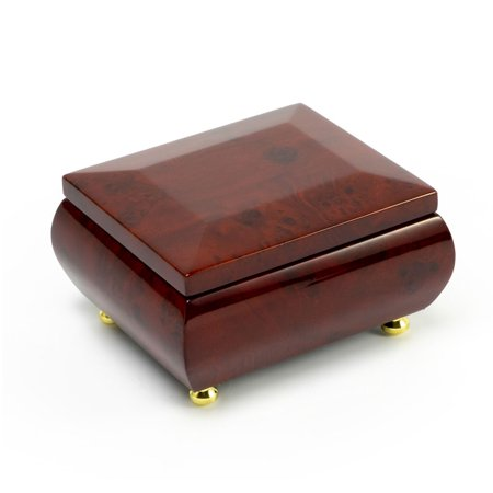 - Gorgeous Wood Tone Classic Beveled Top Music Jewelry Box - 12 Days of Christmas - SWISS