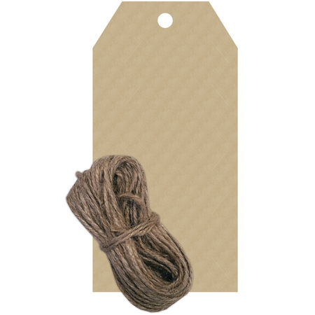 Hampton Art Kraft Paper Tags with Twine, 20 Count