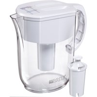 Brita Large Everyday Water Pitcher with Filter - BPA Free - White - 10 Cup