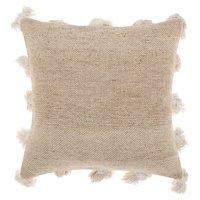 "Nourison Life Styles Tassel Border Decorative Throw Pillow, 18"" x 18"", Beige"