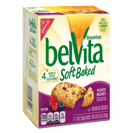 (6 Pack) Belvita Soft Baked Mixed Berry Breakfast Biscuits, 8.8 Oz ()