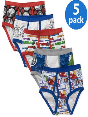 Marvel Avengers Boys' Underwear, 5 Pack