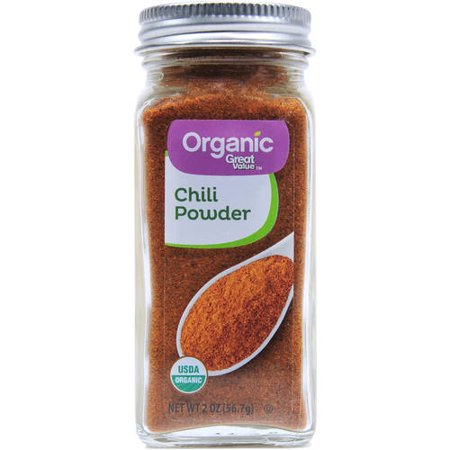 Great Value Organic Chili Powder, 2 oz (Chipotle Chili Powder Vs Ancho Chili Powder)