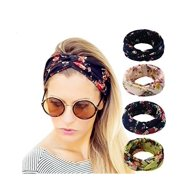 4 Pack Women s Headbands Elastic Turban Head Wrap Floal Style Hair Band 17875db4f50