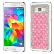 Insten Hard Bling Cover Case For Samsung Galaxy Grand Prime - Silver/Pink