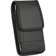 For SAMSUNG GALAXY S4 MINI S 4 mini (FITS OTTERBOX DEFENDER case on it) CLIP METAL HOLSTER STRONG V NYLON CASE VELCRO POUCH+RING HOOK+cell phone Microfiber