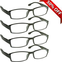 Reading Glasses 1.50 | Best 4 Pack of Readers for Men and Women | 180 Day Guarantee