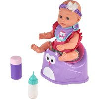 "My Sweet Love 5-Piece 14"" Baby Doll & Accessories Potty Set Purple"