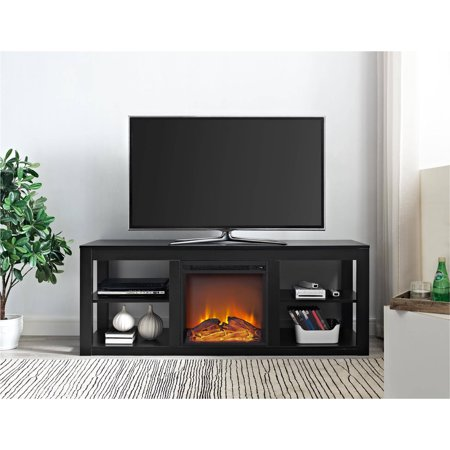 ameriwood home parsons electric fireplace tv stand for tvs up to 65 rh walmart com 65 Inch TV Stand with Fireplace 65 Inch TV Stand with Fireplace