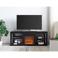 "Ameriwood Home Parsons Electric Fireplace TV Stand for TVs up to 65"" Black"