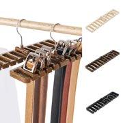 Heepo Durable Men Plastic Belt Scarf Rack Organizer Neck Tie Hanger Holder Organizer