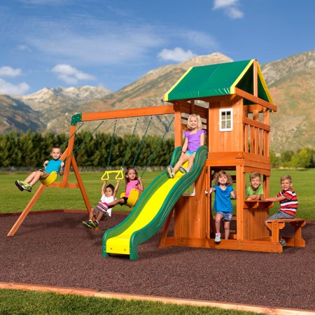 Backyard Discovery Oakmont Cedar Wooden Swing Set ()