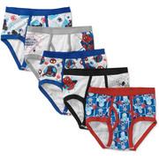 Marvel Spiderman Boys' Underwear, 5 Pack
