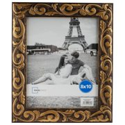 b20121bb292e Mainstays HCE 8x10 Gold Swirls Picture Frame