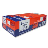 """Daily Chef Foil Sheets, 12"""" x 10.75"""" (500 ct.)"""
